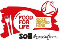 Food for Life Gold Award for our School catering services